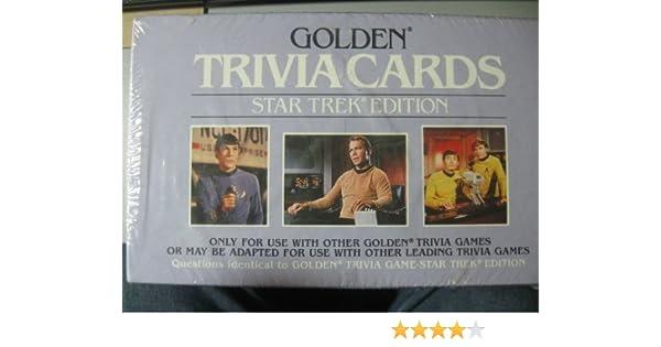 Amazon Golden Trivia Cards Star Trek Edition Toys Games