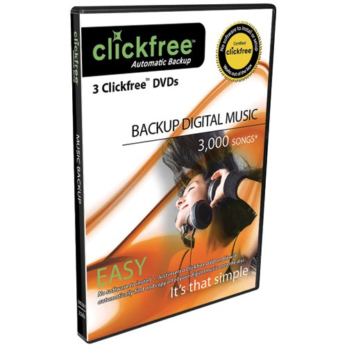 Clickfree Automatic Backup DVD Music Edition DVD200-3, 3-Pack