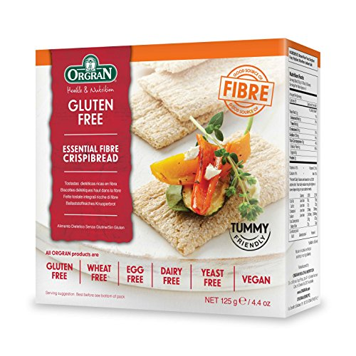 Orgran Essential Fiber Crispibread with 19% Dietary Fiber, 4.4-Ounce Boxes (Pack of 6)