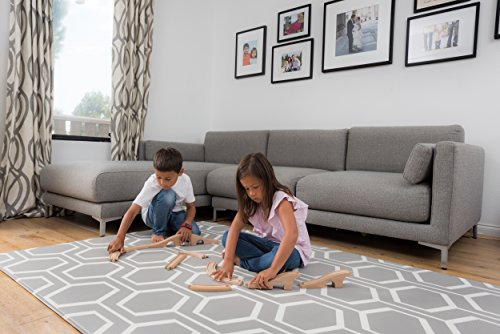 Baby Play Mat – For Babies, Toddlers and Kids – Protect Your Child With This Stylish Soft Play Rug – Attractive, Modern and Sophisticated Design – Tested to Rigorous Safety Standards by Tregolden (Image #1)