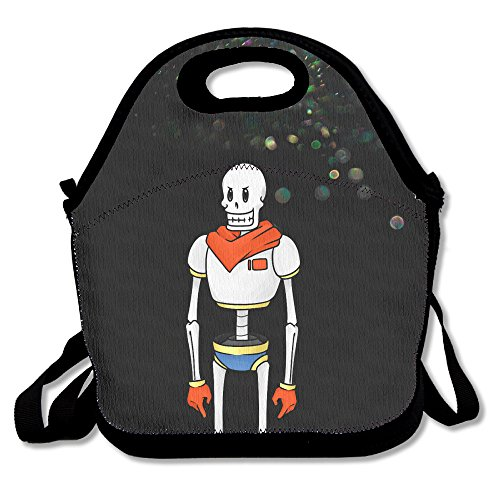 Bekey Undertale Papyrus Robot Lunch Tote Bag Lunch Box For Women Adults Kids Girls For Travel School Picnic Grocery Bags