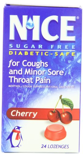 (N'ICE Sugar Free Lozenges, Cherry, 24-Count Package (Pack of 6))