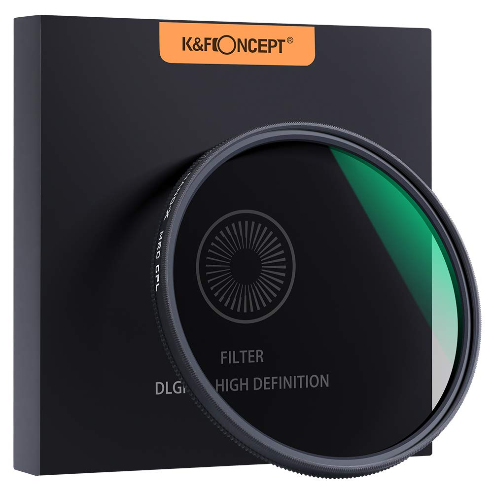 K&F Concept 82mm Circular Polarizer Filter HD 18 Layer Super Slim Multi Nano Coated Weather Sealed CPL Lens Filter by K&F Concept