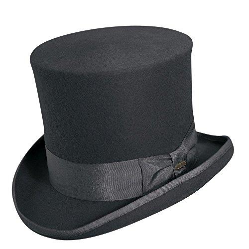 Scala Classico Men's Wool Felt Top Hat,Grey,XL ()