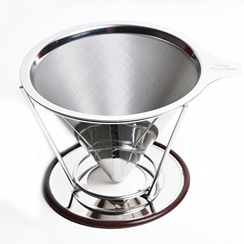 Pour Over Coffee Dripper - Stainless Steel Reusable Coffee Filter for the best Drip Coffee - Pour-over Coffee Maker by Easy Anywhere (Spanish Coffee Filter compare prices)