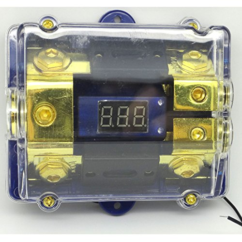 Digital Led Display Gold 2 Anl Fuse Holder 0 2 4 Gauge 200 Amp 200A