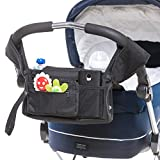 Premium Quality Stroller Organizer for Mom - Baby Stroller Organizer with Insulated Cup Holders - Keeps Cell Phones and Wallet Handy - Holds Diapers and Baby Toys - Great Gift for New Moms and Dads