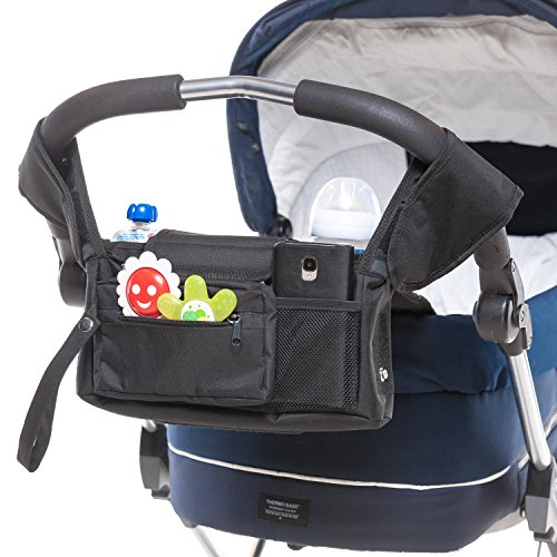 Premium Quality Stroller Organizer for Mom - Baby Stroller Organizer with Insulated Cup Holders - Keeps Cell Phones and Wallet Handy - Holds Diapers and Baby Toys - Great Gift for New Moms and Dads by winstig