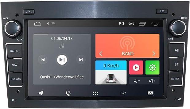 hizpo Android 10 Radio de Coche con navegación GPS Bluetooth 7 Pulgadas Pantalla táctil para Opel Antara Vectra Crosa Vivaro Zafira Meriva Apoyo ...