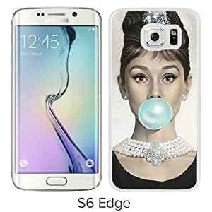 Unique Samsung Galaxy S6 Edge Screen Case ,Popular And Durable Designed Case With Audrey Hepburn (2) White Samsung Galaxy S6 Edge High Quality Phone Case