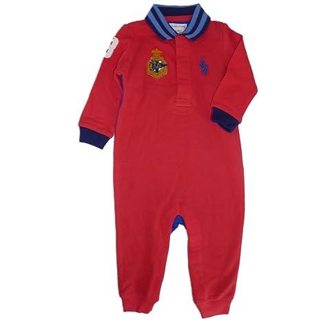Ralph Lauren Baby Pelele Mono Joven Big Pony Polo Jinete Rojo Azul rot blau Talla: