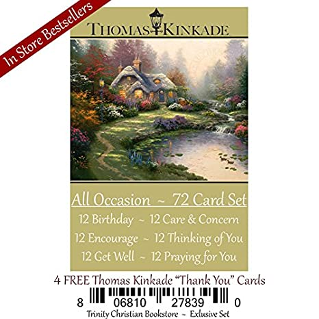 Amazon Exclusive Thomas Kinkade Religious Christian 72 Card