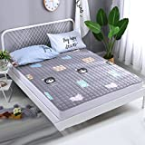 Collapsible Comfortable Ergonomics Mattress,Mat cushion Based on u.s. For Bedroom Household-Washable-cotton-cute 90x200cm(35x79inch)