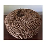 Happy House Organic Garden Twine Made of Premium 100% Natural Coconut Fiber (Coir Fiber) Length is 1150 feet,Thickness 5mm,Weight 7.5 LbsFrom Our Own Production,100% Biodegradable