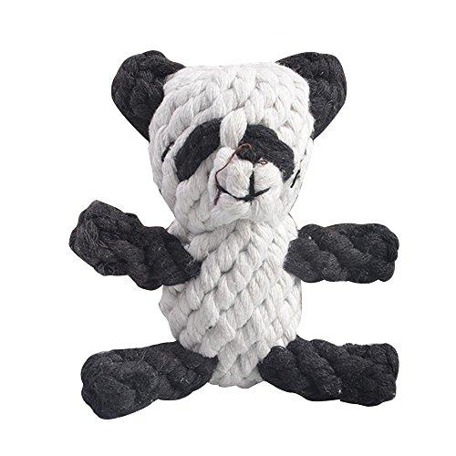 Eizur Haustier Hunde Katze kauen Panda-Form Baumwoll Puppy Kauspielzeug Schlepper Spielzeug Interaktiv Welpen-Beiß Hundespielzeug Zähne sauberer Zahnpflege Trainings-Werkzeug