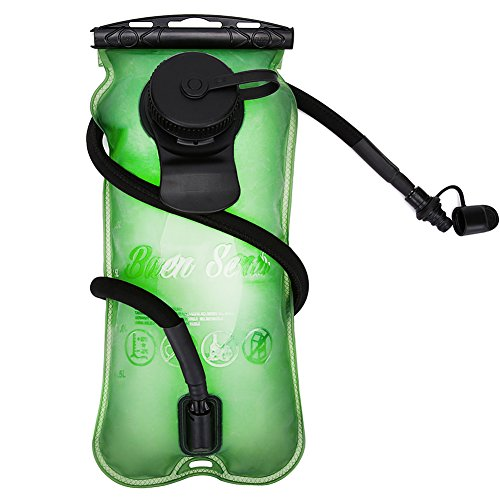 Baen Sendi Hydration Bladder 3 Liter//100 oz – Water Bladder for Hydration pack (Green, 3 L /100 oz)