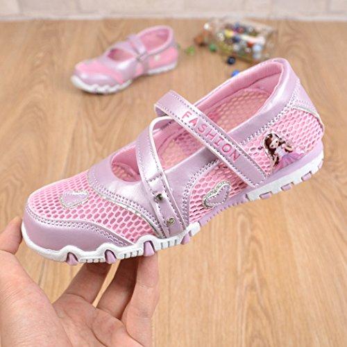 Chaussures Respirant Bout Mode Rose Doux river Chaussure Fermé Filles Sandales Été Silver xnw1q4fZx