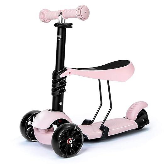 GYFY El Scooter para niños se Puede sentar en el Carro de Tres ...