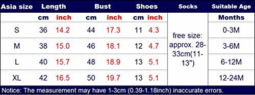 07dbe678a FEOYA - (Conjunto de 4 Vestido Traje de Navidad Copo de Nieve para Bebés  Niñas Recién Nacidos con Mangas Largas Venda de Pelo y Calcetines Zapatos  Puntos ...