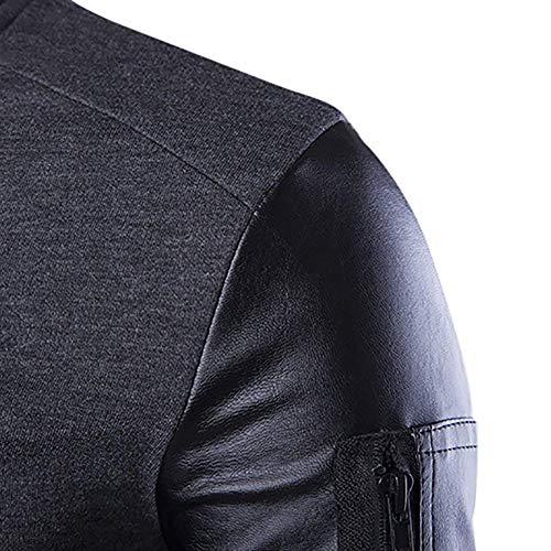 Da Tasche Abiti Comode Esterno Hx Zip Lunga Fashion Capispalla Felpa Giacca Manica Taglie Grau Laterali Con Uomo Cappotto wEHEqPg