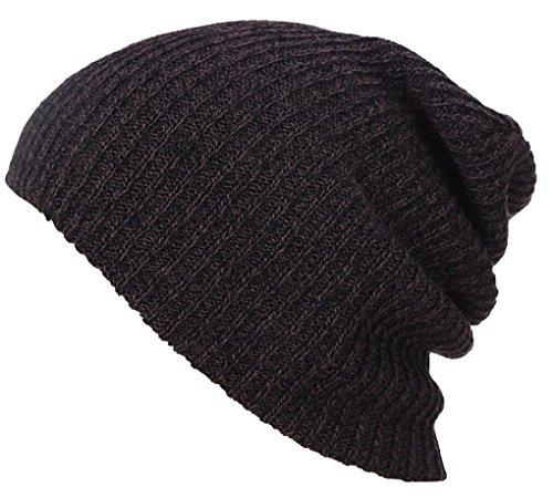 Beanie Unisexe Tricoté Chaud Hiver Acmede Marron Adulte Chapeau Hats Pour Bonnet tqCz7w7X