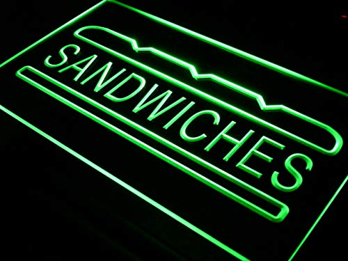 ADVPRO Cartel Luminoso i413-g Sandwiches Cafe Shop Bar Pub ...
