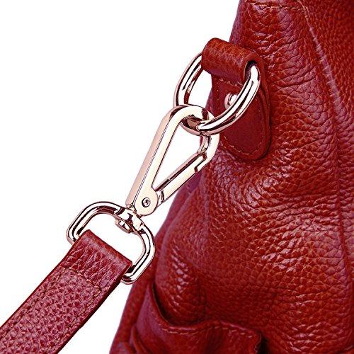 Sac main à bordeaux femme AINIMOER bordeaux pour rouge fz61qdqw