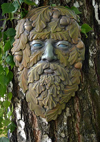 Betonex Mold Green Man FACE Plaque Old Man Tree Wood Spirit Faces Greenman D31