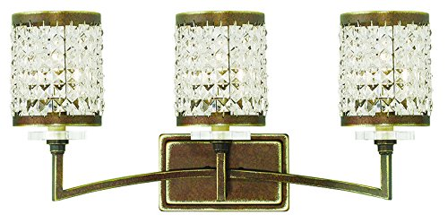 Livex Lighting 50563-64 Gramercy 3-Light Bath Light, Hand Painted Palacial Bronze (64 Transitional Bath)