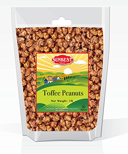 SUNBEST Toffee Peanuts in Resealable Bag (1 Lb)