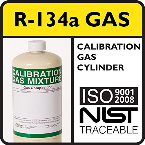 100 PPM R-134a Refrigerant Calibration Gas, Balance Air, - Refrigerant Gas Cylinder