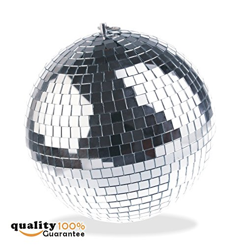 PMLAND Mirror Balls Disco DJ Dance Decorative Stage Lighting Home Party Business Window Display Decoration 12 Inch ()