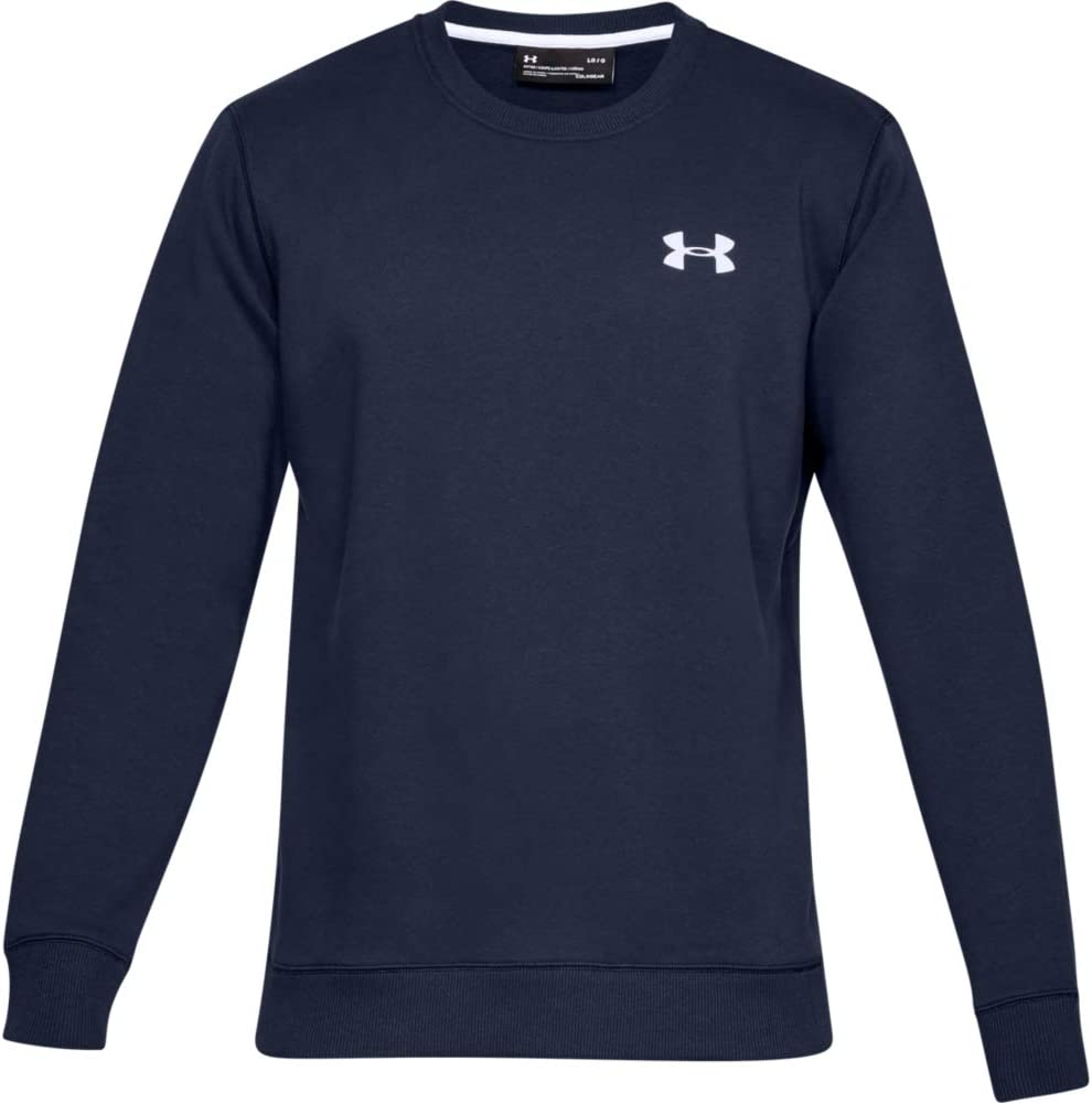 Under Armour Felpa Uomo Rival Solid Fitted Crew