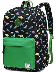 VASCHY Kids Backpack Boys Dinosaur Backpack Children's School Backpack Book Bag with Side Pockets (Large)