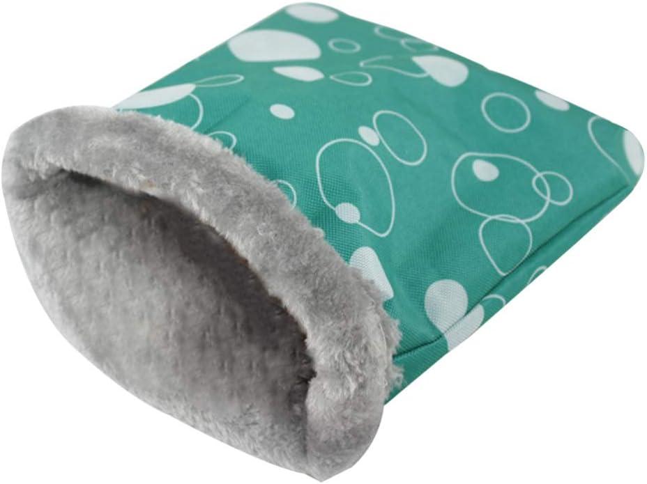 Balacoo Saco de Dormir de hámster de Felpa cálida pequeña Mascota Saco de Dormir Jaula Cama Nido para Chinchillas de Ratas de Erizo Conejillo de Indias (Color Aleatorio, L)
