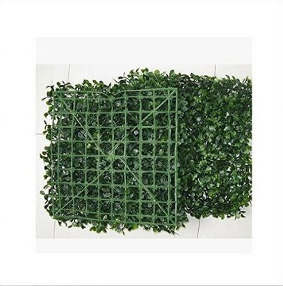 100 PCS Artificial in Outdoor Boxwood Mat Grass Patio Hedge Plant Wall 9.8*9.8'' Grass