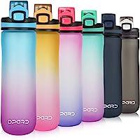 Opard Drinkfles Sport 600 ml - waterfles van Tritan BPA-vrij, lekvrije sportfles, kunststof waterfles met zeef - met 1…