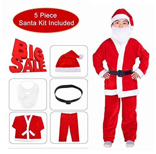 aingycy Santa Claus Costume for Boys Little Santa Costume Children's Santa Suit Christmas Halloween Costume Cosplay 5 -