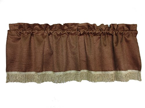Violet Linen Luxurious Chenille Abstract Collection Window Valance, 60