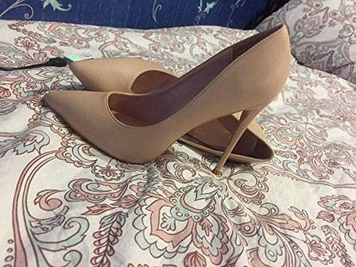Elisabet Tang Women Pumps, Pointed Toe High Heel 4.7 inch/12cm Party Stiletto Heels Shoes Matte