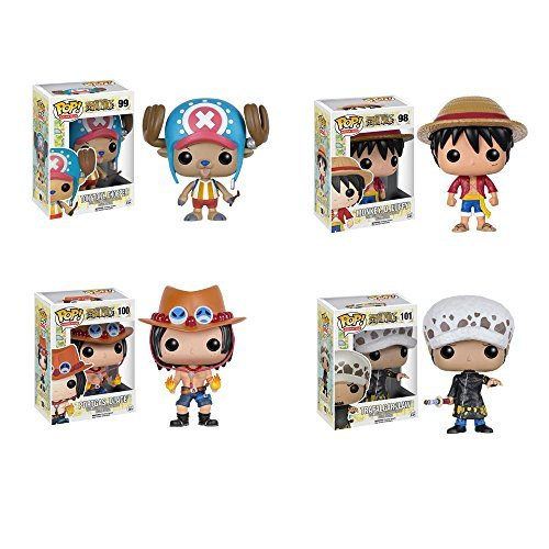 One Piece Chopper, D. Luffy, D. Ace, Trafalgar Law Pop! Vinyl Figures Set of 4