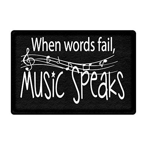 DKISEE Indoor Outdoor Entrance Rug Floor Mat When Words Fail, Music Speaks Doormat, - I35 Open Is