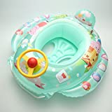 Baby Floats Boat Water Toys Inflatable Swimming Pool Ring Toys Floating Raft (green peppa)