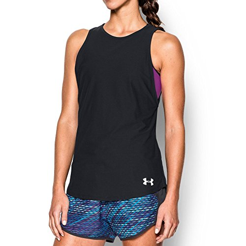 Under Armour Women's CoolSwitch Run Tank, Black/Reflective, Small
