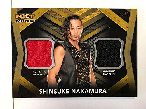 2017 Topps NXT Dual Relics #DR-SN Shinsuke Nakamura NM-MT MEM from NXT