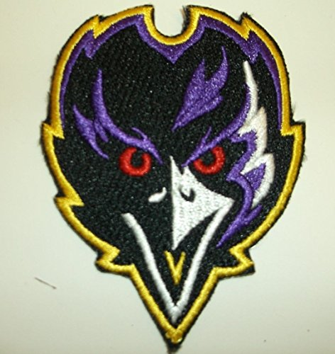 Baltimore Ravens Face Embroidered Patch~3
