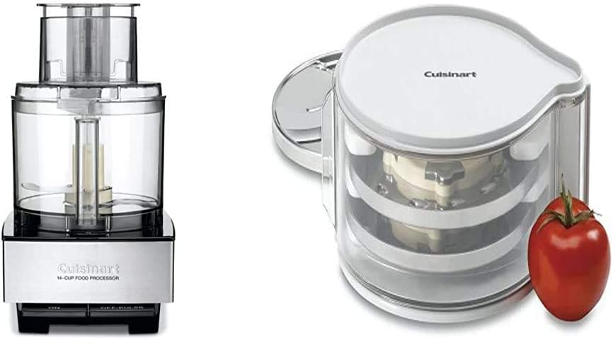 Cuisinart DFP-14BCNY 14-Cup Food Processor, Brushed Stainless Steel - Silver & DLC-DH Disc Holder