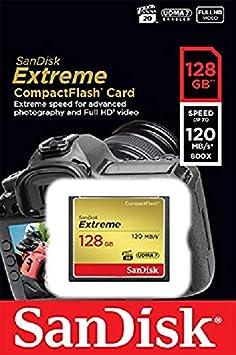 SanDisk SDCFXSB-032G-FFP Extreme CompactFlash Scheda di Memoria 32GB UDMA-7 120MB/S [Imballaggio Apertura Facile di ]