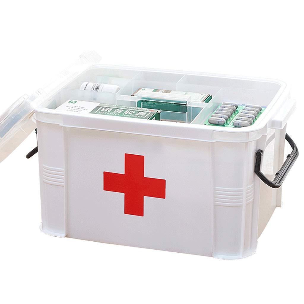 GSHWJS-Medical Chest Household Medicine Box Multifunctional Layered Medicine Box Medicine Box First Aid Medical Medicine Box Storage Medicine Storage Box 33x24x19cm