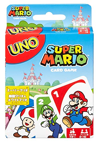 UNO Super Mario Card Game - Mario Super Star